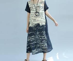 etsy, summer dress, and cottondress image