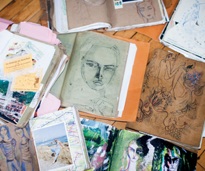 art, drawing, and sketch image