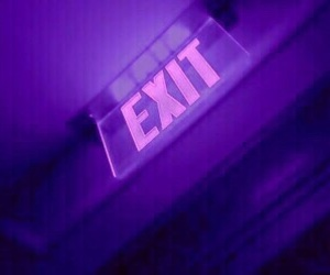 red, exit, and light image