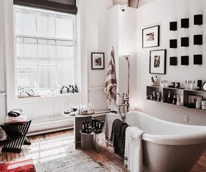 home, interior, and bath image