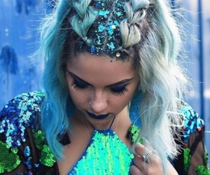 beautiful, festival, and hair image