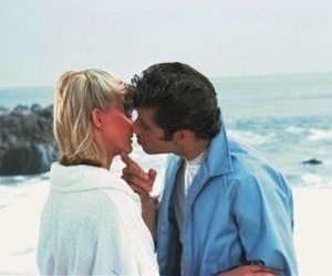 grease, couple, and kiss image