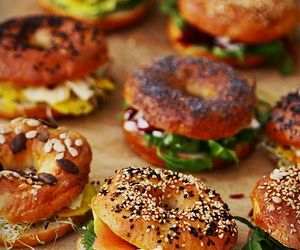 yummy, bagel, and delicious image