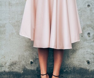 clothes, heels, and skirt image