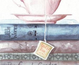 book, tea, and wallpaper image