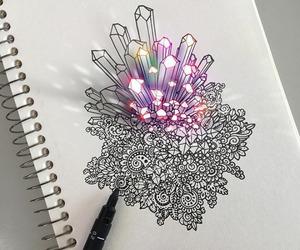 art, drawing, and crystal image