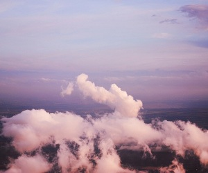airplane, clouds, and summer image