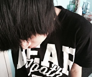 emo, dyed hair, and scene image