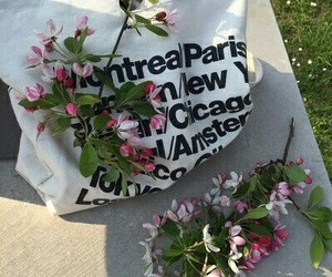 bag, flowers, and цветы image