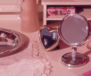 pink, aesthetic, and mirror image