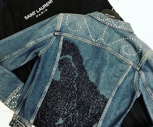 denim, jacket, and YSL image