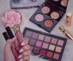makeup, fashion, and girly image