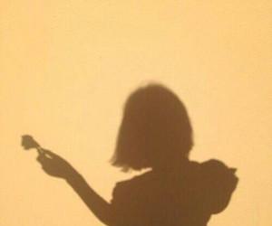 shadow, yellow, and girl image