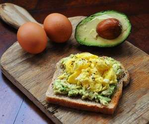 avocado, eggs, and food image