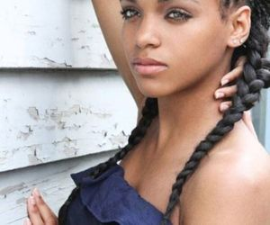 braids, trend, and single braids hairstyles image