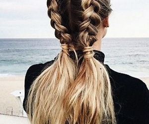 girl, hairstyle, and braid image