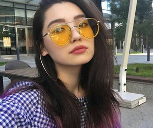 aesthetic, asian girl, and glasses image