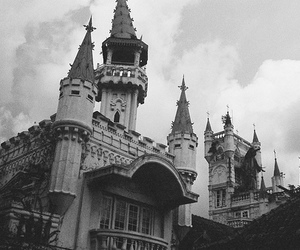 black and white, photography, and castle image