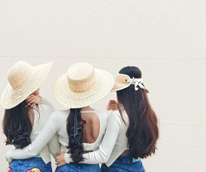 fashion, hat, and sisters image
