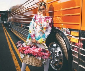 arco iris, flowers, and miley cyrus image