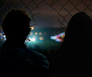 couple, grunge, and night image