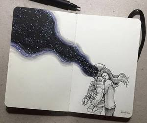 art, love, and drawing image