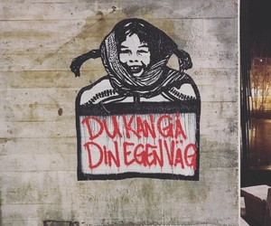 musik, streetart, and svenska image