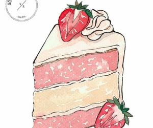 cake, cream, and morango image