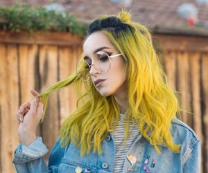 hair, hairstyle, and yellow image