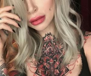 beautiful, blonde, and body modification image