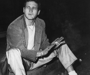 paul newman and black and white image