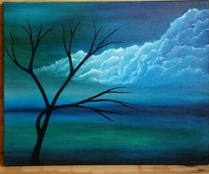art for sale, blue clouds, and cloud painting image