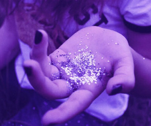 aesthetic, glitter, and hand image