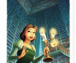 belle, princess, and beaty and the beast image