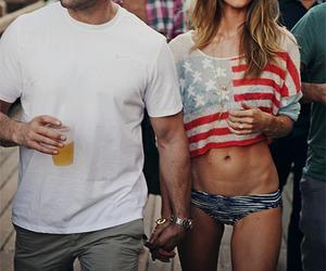 couple, model, and Jason Statham image