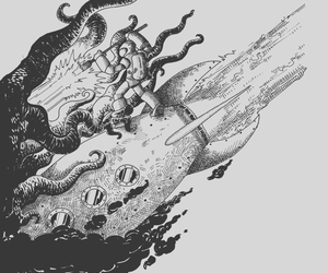 aliens, space, and threadless image