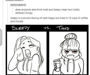 funny, tumblr, and tired image