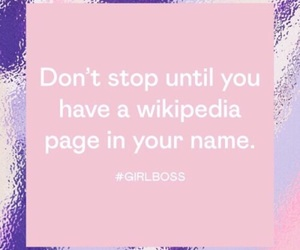 quote, girlboss, and wikipedia image