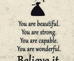 beauty, believe, and words image