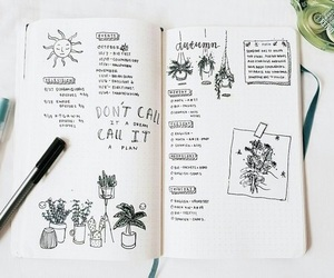 bullet journal, bujo, and planner image