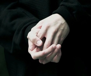 hands, black, and kpop image