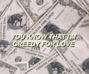 greedy, ariana grande, and aesthetic image