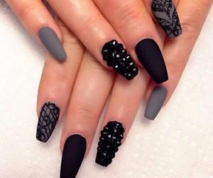 nails, black, and grey image