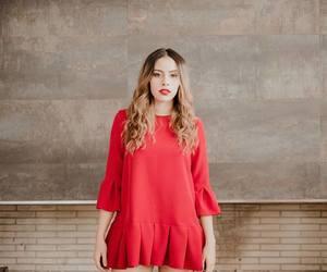 red dress, juliana perez, and ventino image