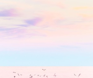 beach, pastels, and sky image