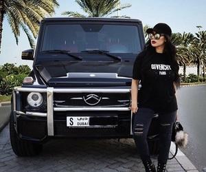 car, outfit, and Dubai image