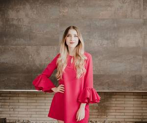 red dress, olga lucia vives, and ventino image