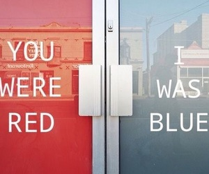 red, blue, and halsey image