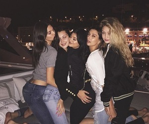 kendall jenner, kylie jenner, and gigi hadid image
