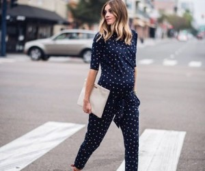 chic, maternity, and fashion image